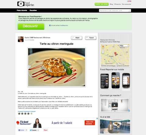 Food Reporter.com-Tarte au citron