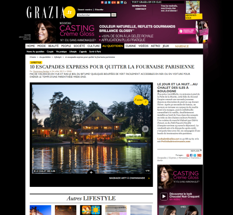 Grazia.fr 26 Juillet 2013