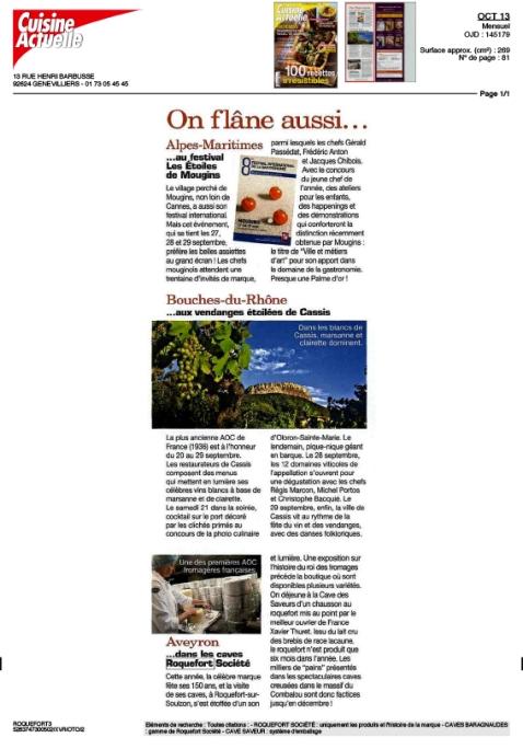 Cuisine Actuelle Octobre 2013