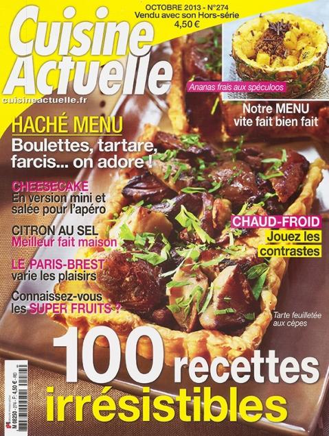 Cuisine Actuelle Octobre 2013.