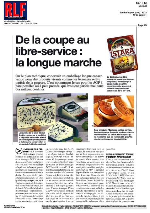 La Revue Laitière française Septembre