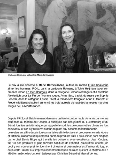 CP PRIX MEDICIS A LA MEDITERRANEE