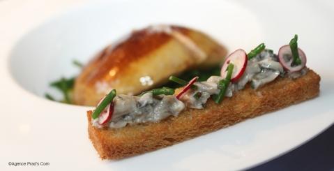 Ép. tranche Foie de Veau de Lait, Julienne de H. plats au Vinaigre de framboise 4 ©Agence Prad's Com