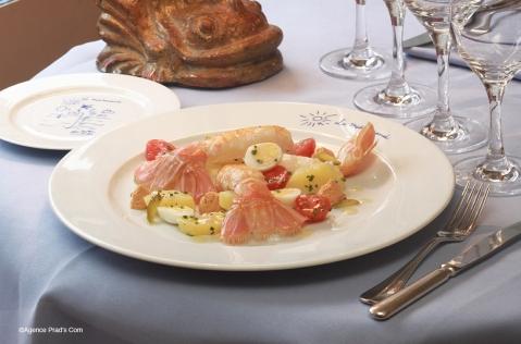 Salade Piémontaise aux Langoustines, assaisonnement %22vraiment%22 léger 1 ©Agence Prad's Com réduite