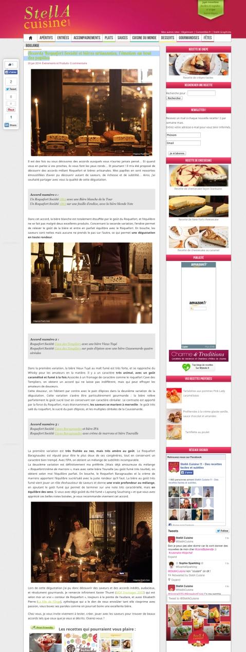 Stella Cuisine 20 janvier 2014