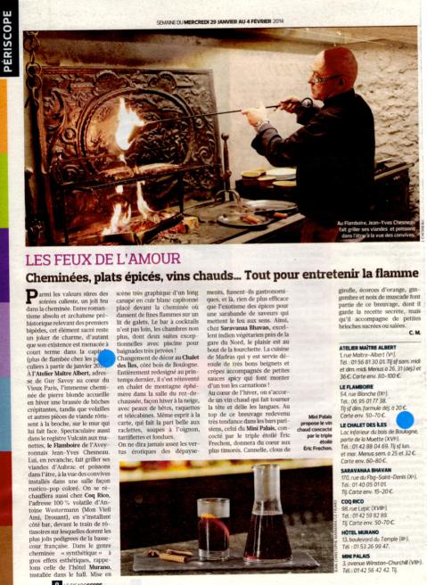 Figaroscope 29 janvier 2014