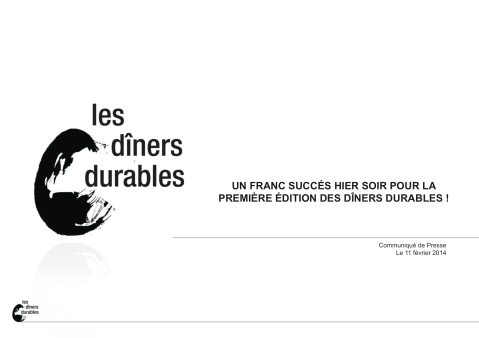 CP bilan Les dîners durables 10 février 2014