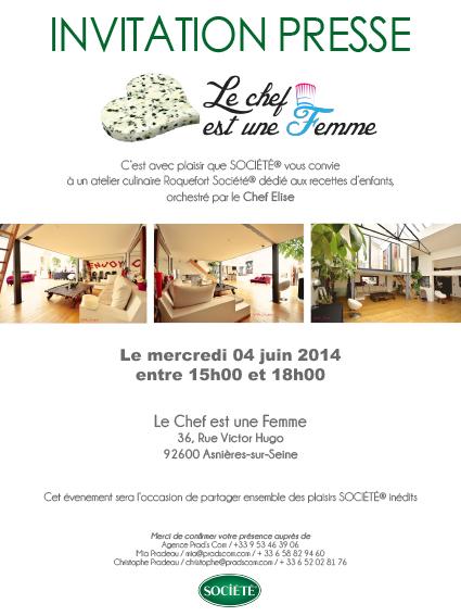 INVITATION LE CHEF EST UNE FEMME 4 JUIN 2014-2