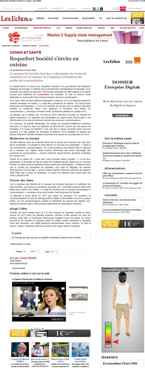 Roquefort Société s'invite en cuisine, Actualités