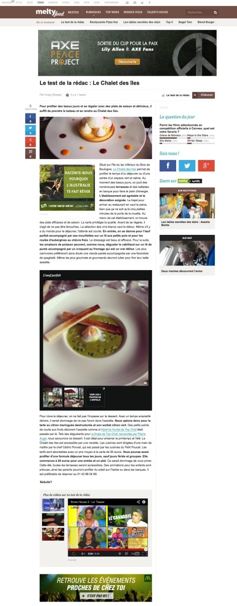 Meltyfood.fr 22 Avril 2014