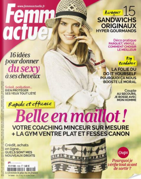 Femme Actuelle, 09/15 juin 2014