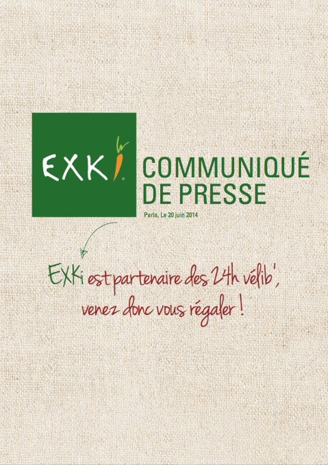 CP EXKi partenaire des 24h Vélib'
