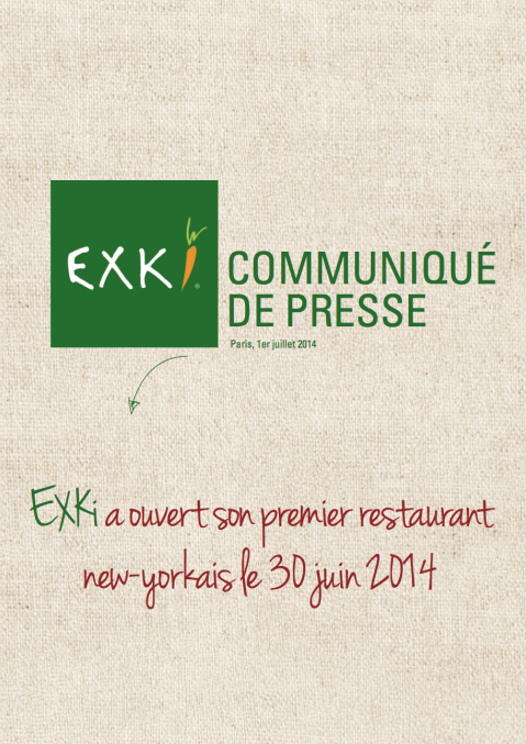 CP EXKi - Ouverture NYC - FRANCE