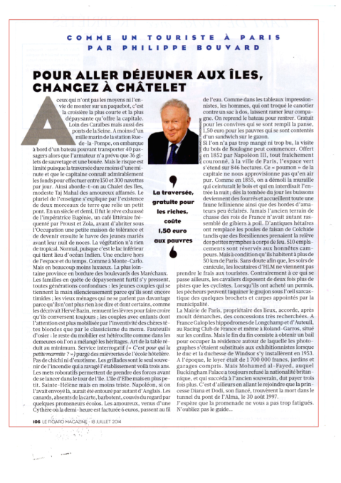 Le Figaro Magazine 18 juillet 2014