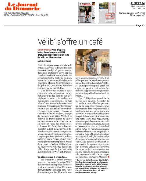 Le Journal du Dimanche, 21 Septembre 2014