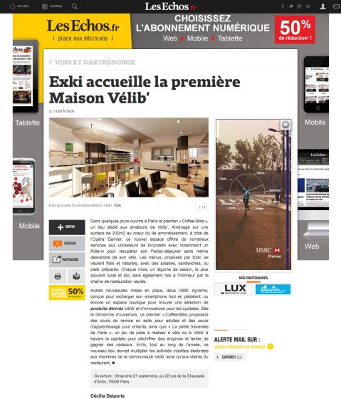 Lesechos.fr, 15 Septembre 2014