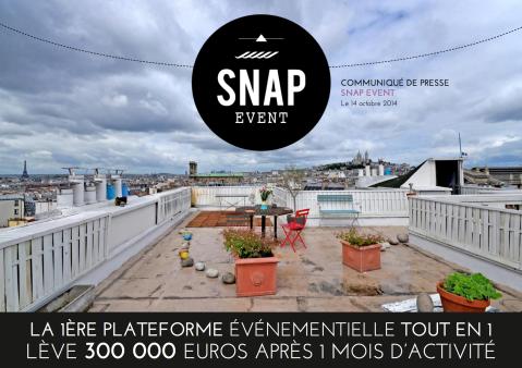 CP levée de fonds SnapEvent