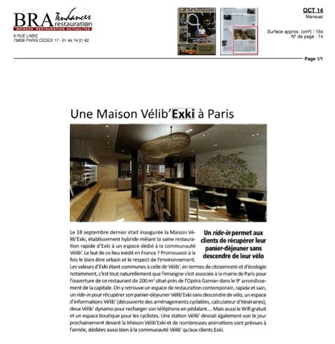 BRA Tendances Restauration , Octobre 2014