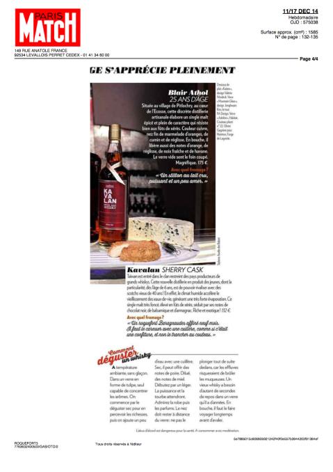 Paris Match, 11-17 Décembre 2014