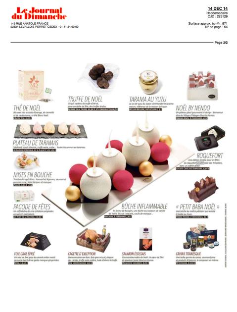 Le Journal du Dimanche, 14 Décembre 2014 – Roquefort Société®