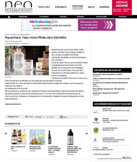 Neorestauration.com, 03 Décembre 2014