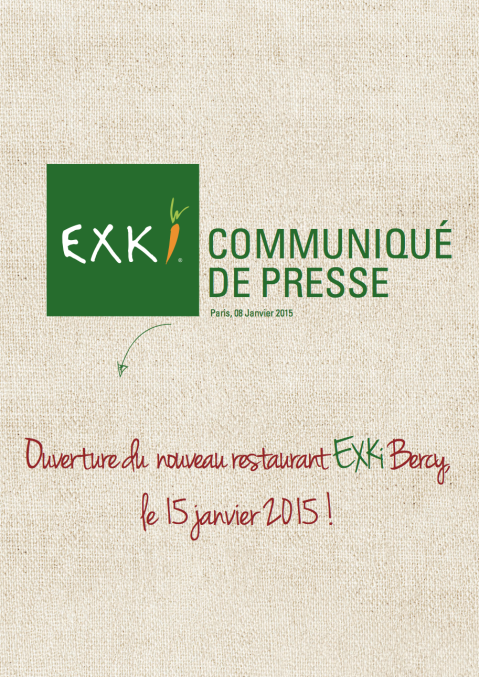 CP EXKi - Ouverture BERCY