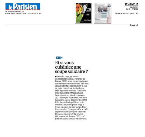 Le parisien, 17 Janvier 2015 – EXKi