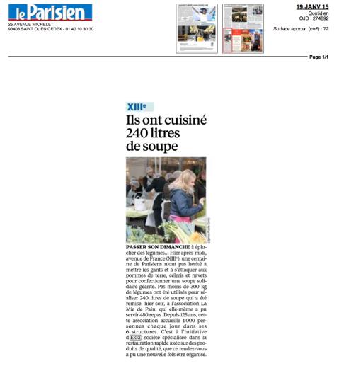 Le Parisien, 19 Janvier 2015 – EXKi