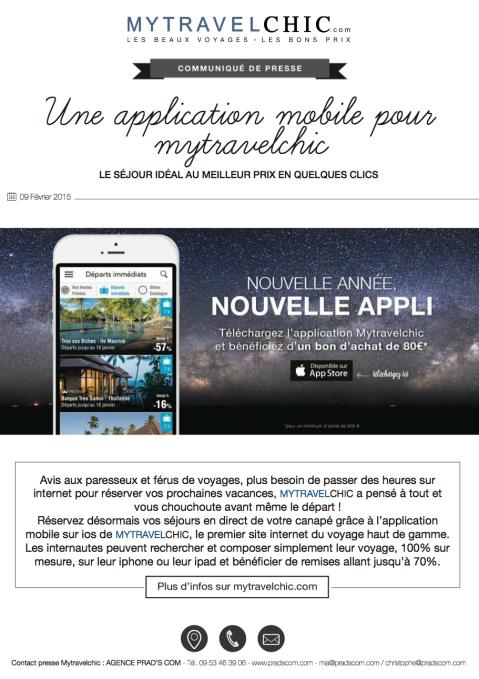 CP MYTRAVELCHIC.COM –Nouvelle appli V2