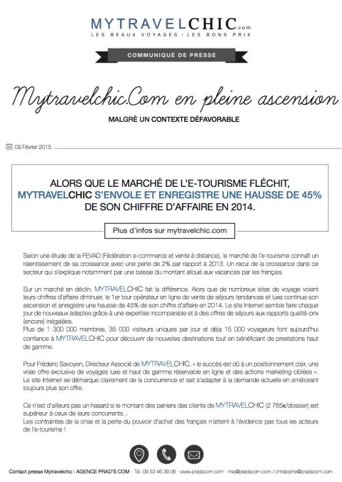 CP MYTRAVELCHIC E-tourisme