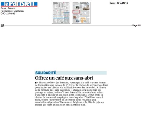Le Parisien, 27 Janvier 2015