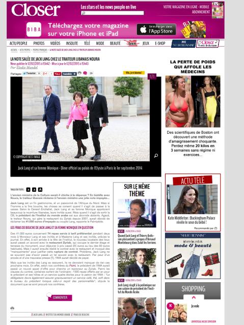 Closermag.fr, 12 Février 2015