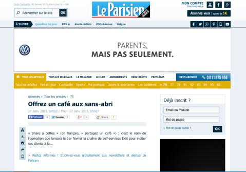 Leparisien.fr, 27 Janvier 2015