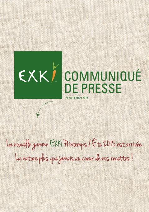 CP NOUVELLE GAMME P/E 2015 EXKi