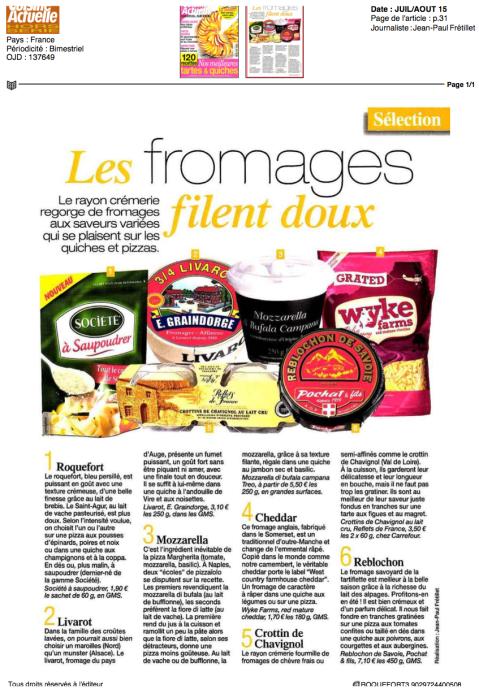 Cuisine Actuelle, Juillet/Aout HS 2015