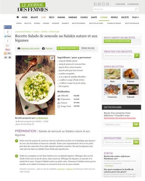 Lejournaldesfemmes.com, Juin 2015