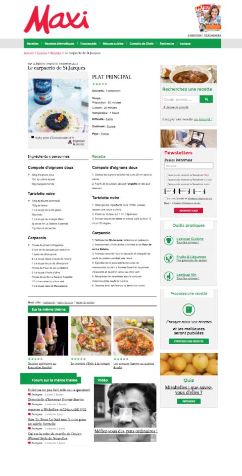 Maxi-mag.fr, 01 Septembre 2015 - La Baleine