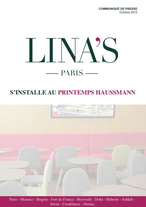 CP LINA'S AU PRINTEMPS HAUSSMANN