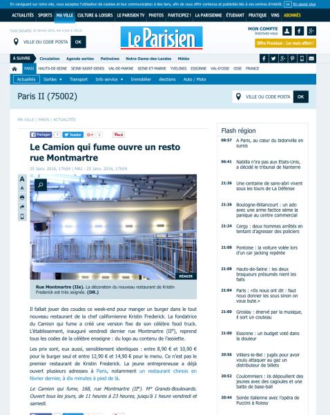 LeParisien.fr, 25 Janvier 2016
