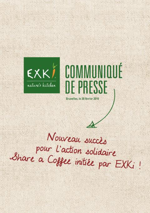 Communiqué de Presse Share a Coffee