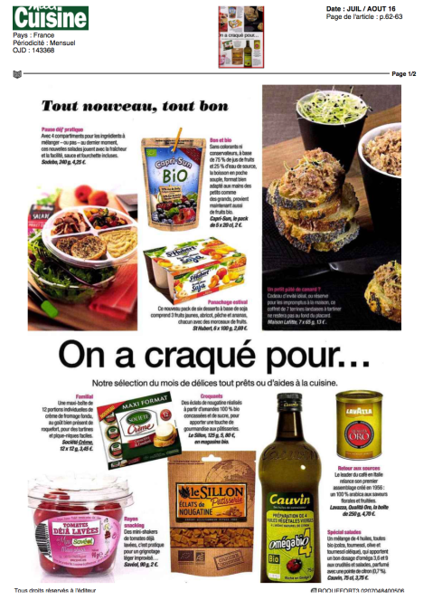 Maxi Cuisine, Jui/Aout 2016, Roquefort Société®